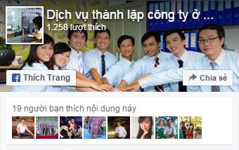 Dịch vụ thành lập công ty tại Đồng Nai Hình facebook fanpage